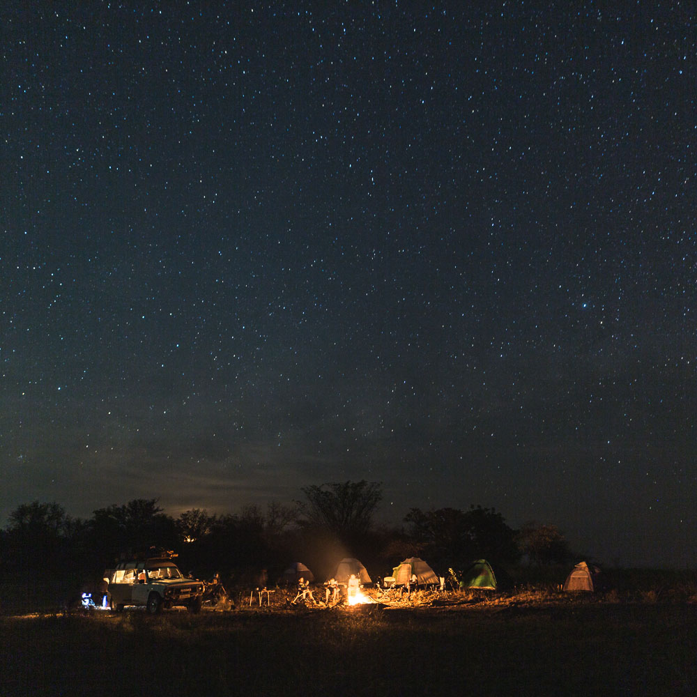 Sleeping under the starry sky