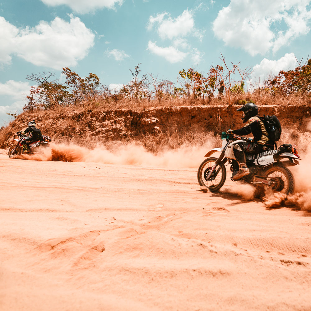 Mit der Yamaha XT 600 im Tiefsand