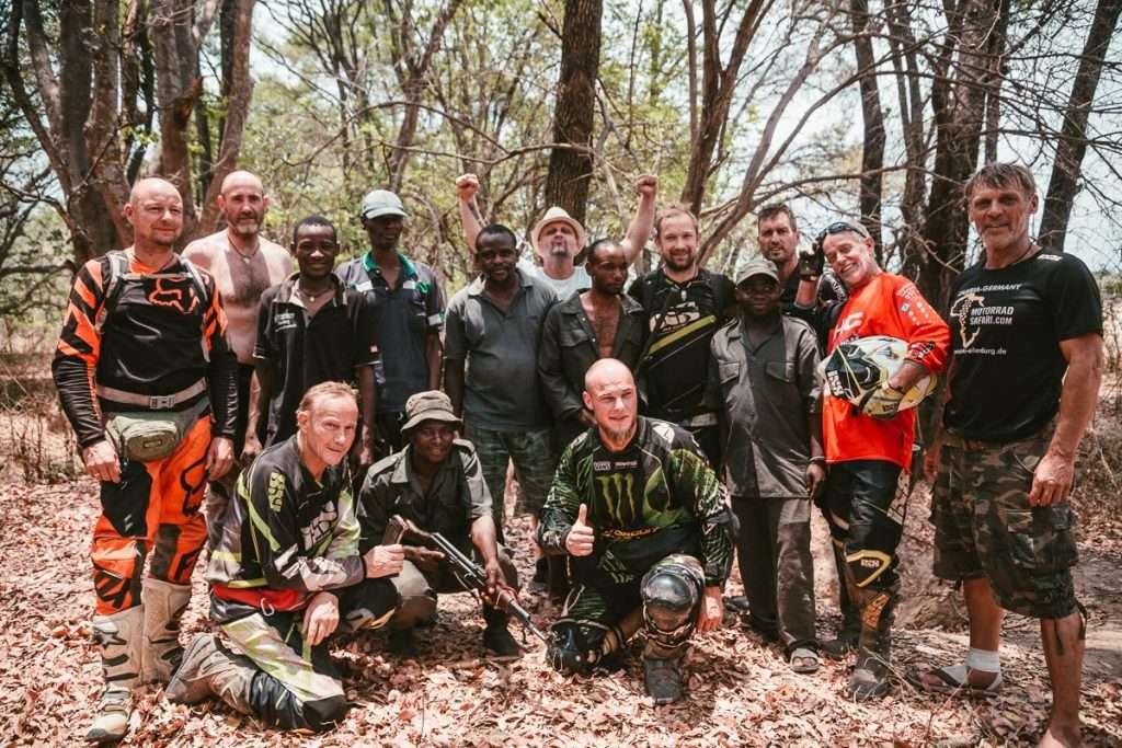 Gruppenfoto mit ein paar Rangern